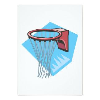 Borda do basquetebol convite 12.7 x 17.78cm