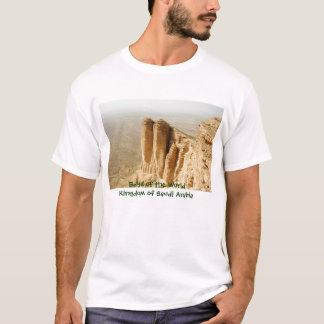 Borda do mundo, reino de Arábia Saudita Camiseta