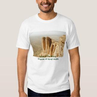 Borda do mundo, reino de Arábia Saudita Tshirts