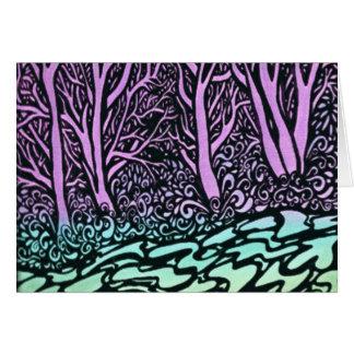 Borda dos rios cartão comemorativo
