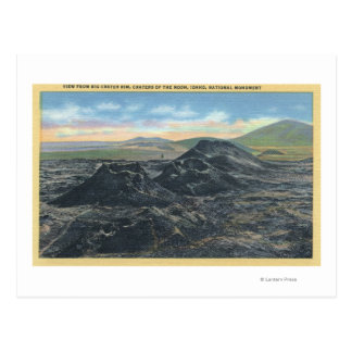 Borda grande da cratera do parque nacional de cartao postal
