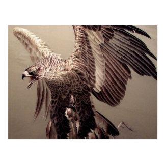 Bordado Eagle Cartão Postal