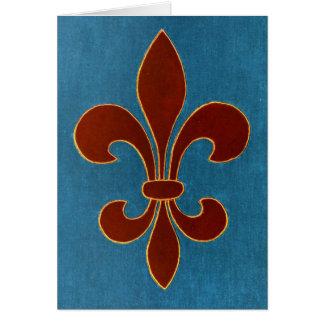 Bordado medieval cartão