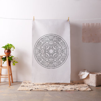 Borde seu próprio tecido abstrato da mandala