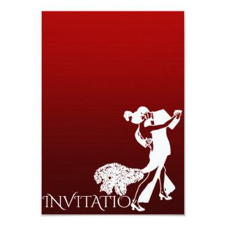 Bordéus personalizado Ombre do tango dança Convite 8.89 X 12.7cm