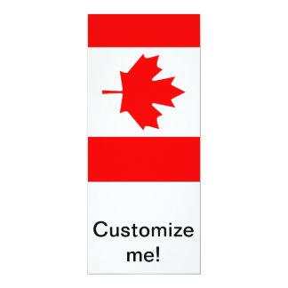 Bordo canadense convite 10.16 x 23.49cm