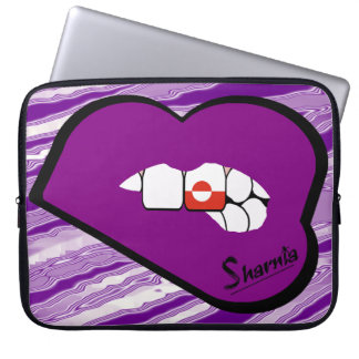 Bordo do roxo da bolsa de laptop de Greenland dos Bolsas E Capas Para Computadores