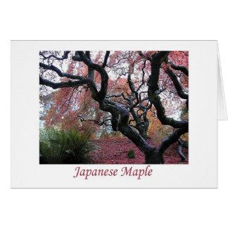 Bordo japonês cartão