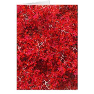 Bordo vermelho cartão comemorativo