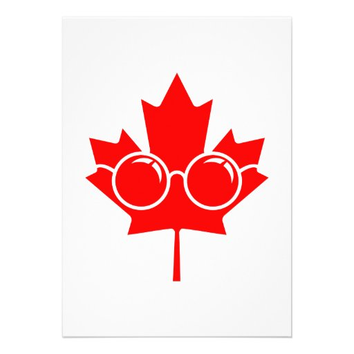 Bordo vermelho de Canad mais vidros Convites Personalizado