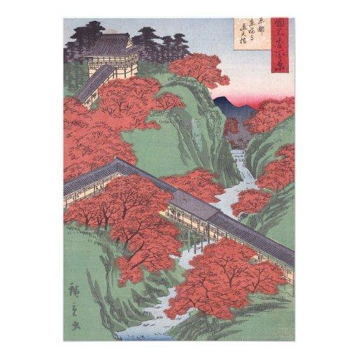 Bordo vermelho japonês convite personalizados
