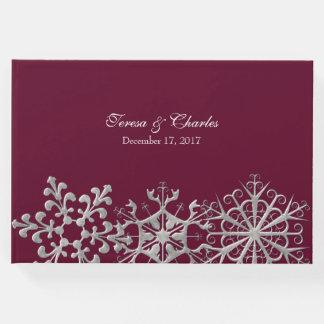 Borgonha com os flocos de neve que Wedding o livro