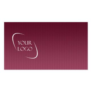 Borgonha e cartões de visitas listrados do