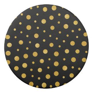 Borracha Bolinhas elegantes - ouro preto