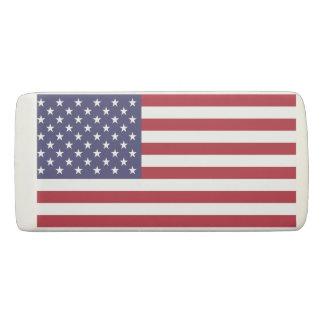 Borracha Eliminador patriótico da cunha com a bandeira dos