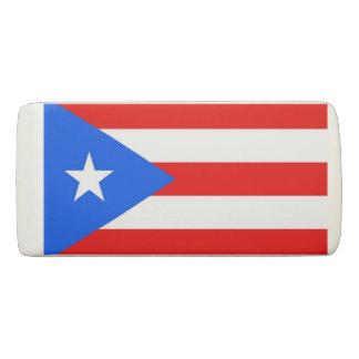Borracha Eliminador patriótico da cunha com bandeira Puerto