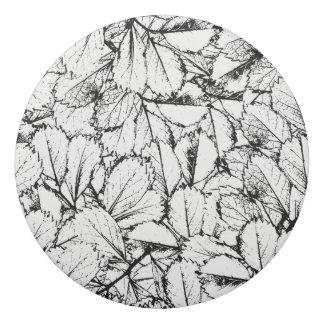 Borracha Folhas do branco