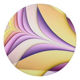 Borracha Fractal colorido Pastel. Amarelo, cor-de-rosa,