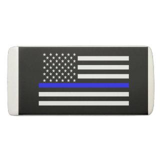 Borracha Gráfico fino da bandeira americana de Blue Line em