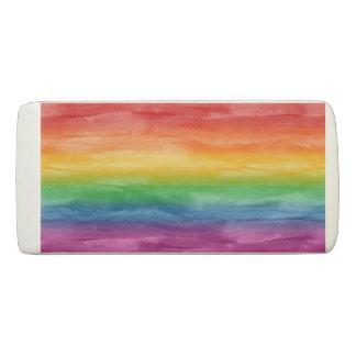 Borracha Listras do arco-íris da aguarela