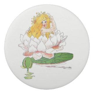 Borracha Menina bonito da criança de flor do vintage do