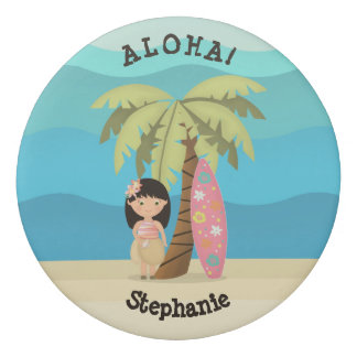 Borracha Menina havaiana do surfista
