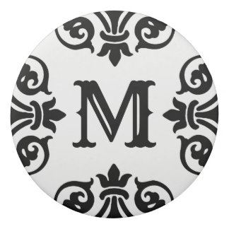 Borracha Monograma ornamentado elegante