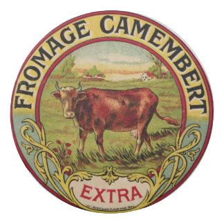 Borracha Queijo francês do vintage com o eliminador da vaca