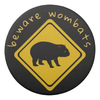 Borracha sinal de estrada do wombat - eliminador