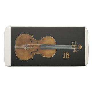 Borracha Violino por Stradivari com iniciais feitas sob