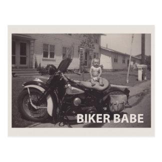 borracho do motociclista cartão postal