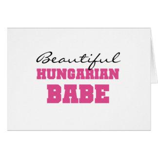 Borracho húngaro bonito cartão