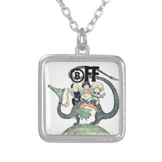 Borrachos corajosos do dragão 3 colar com pendente quadrado