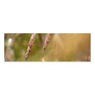 Borrão do campo de trigo cartao de visita