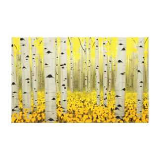 Bosque de Aspen no impressão das canvas do amarelo
