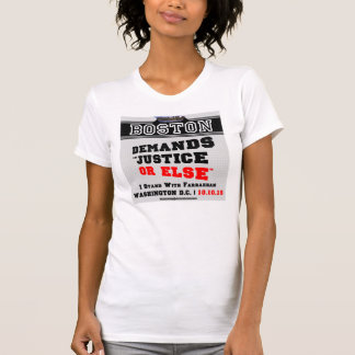 Boston exige justiça ou então o t-shirt