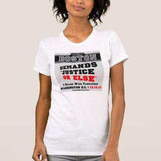 Boston exige justiça ou então o t-shirt camiseta