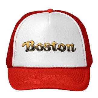 Boston listrada amarela e preta boné