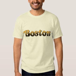 Boston listrada amarela e preta camisetas