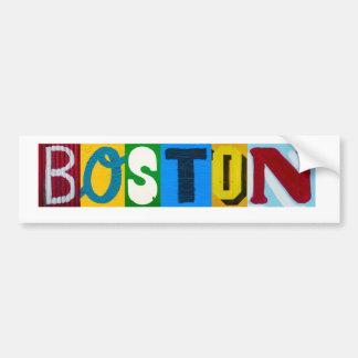 Boston rotula o autocolante no vidro traseiro adesivo para carro