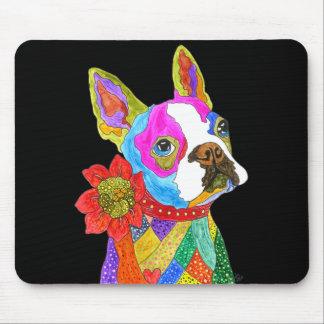 Boston Terrier Mousepad (você pode personalizar)