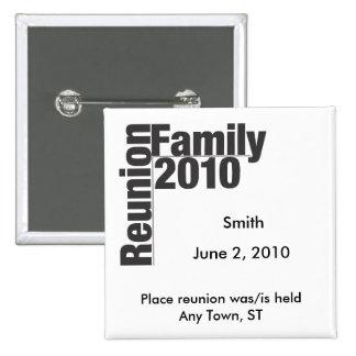Botão 2010 da lembrança da reunião de família boton