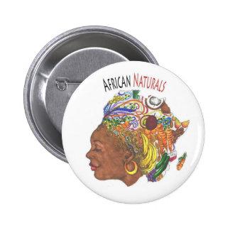 Botão africano da loja dos naturais bóton redondo 5.08cm