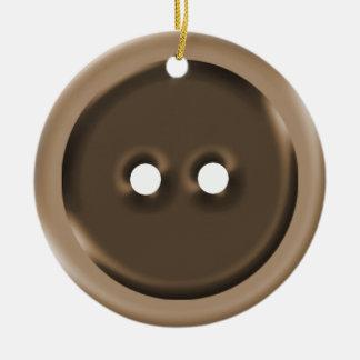 Botão alaranjado do Sepia de Brown Enfeites