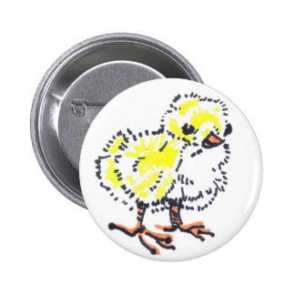 Botão amarelo do pintinho da páscoa botons