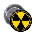 Botão amarelo do símbolo da radiação boton