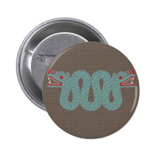 Botão asteca da serpente botons