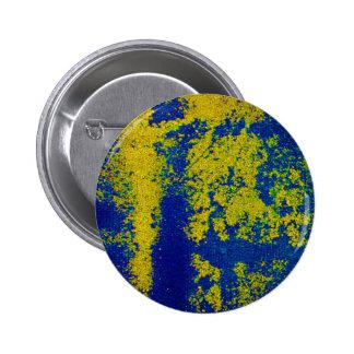 Botão azul do ouro boton