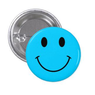Botão azul do smiley face do Aqua Bóton Redondo 2.54cm