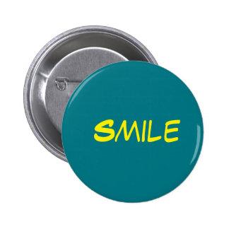 botão azul do sorriso bóton redondo 5.08cm